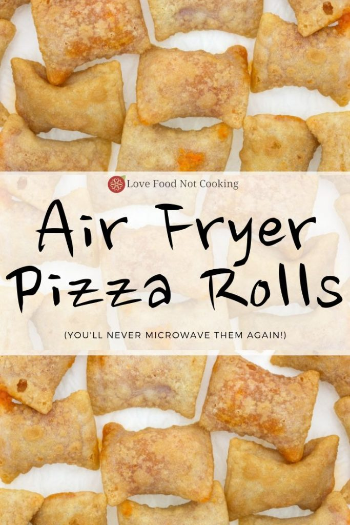 Air fryer pizza rolls pin