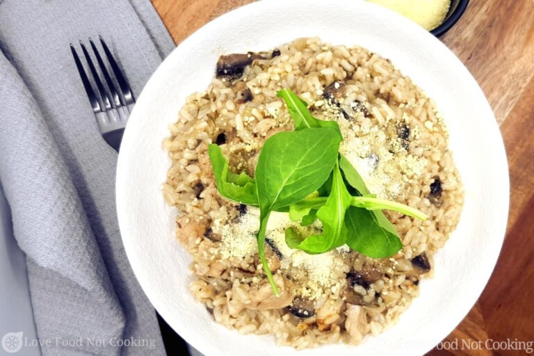 Instant Pot Chicken and Mushroom Risotto