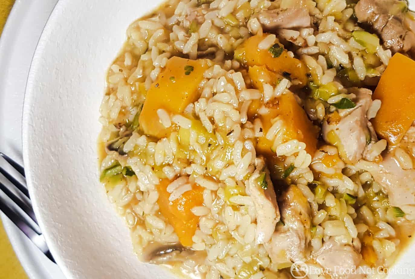 Instant Pot Chicken and Pumpkin Risotto
