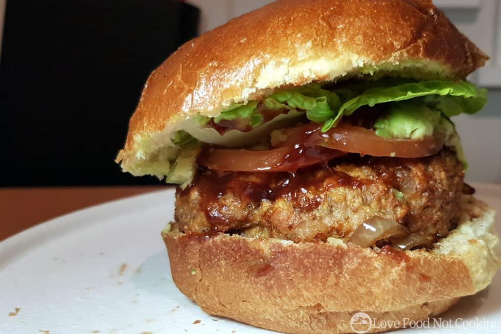 Air fryer pork burgers