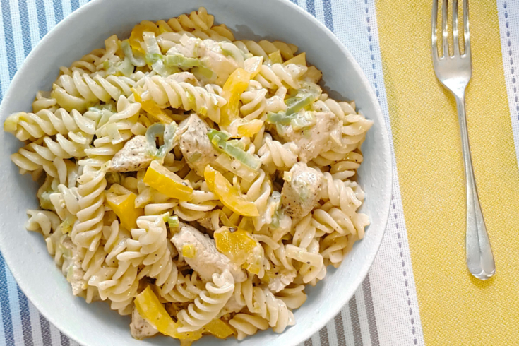 Creamy Chicken and Leek Pasta