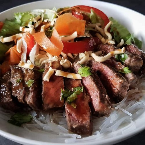 Quick Thai Beef Salad Bowl