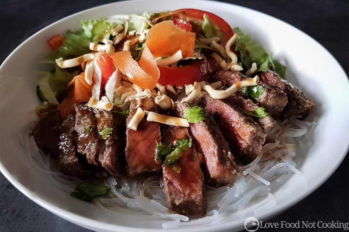 Quick Thai-Style Beef Salad Bowl
