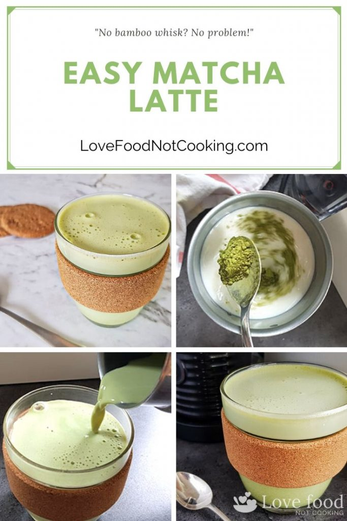 Easy matcha latte pin