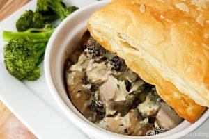 Leftover Turkey and Mushroom Pie