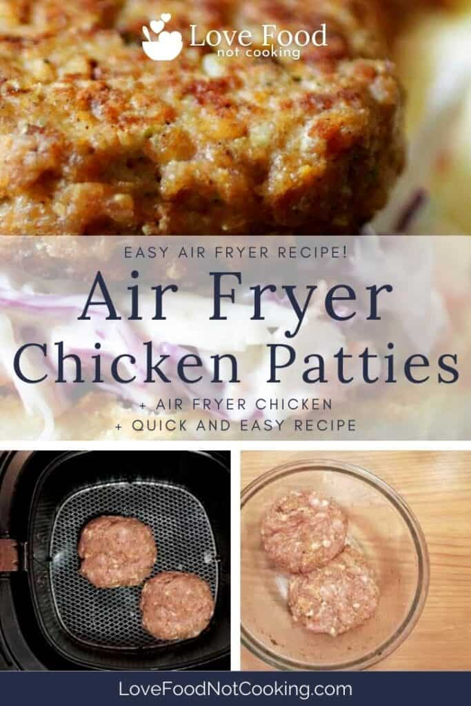 Pin image for air fryer chicken patties