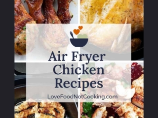 Air Fryer Chicken photos with text overlay: Air Fryer Chicken Recipes