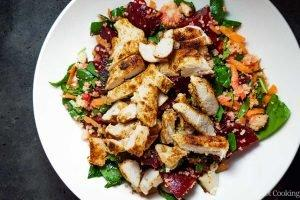 Pomegranate Couscous Salad on a white plate