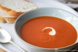 Creamy Tomato Soup with canned tomatoes